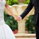 NB Outdoor Garden Bride Groom Holding Hands Winter 2016 Premier