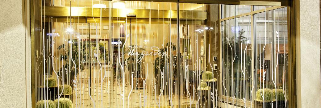 Photo of fancy glass door