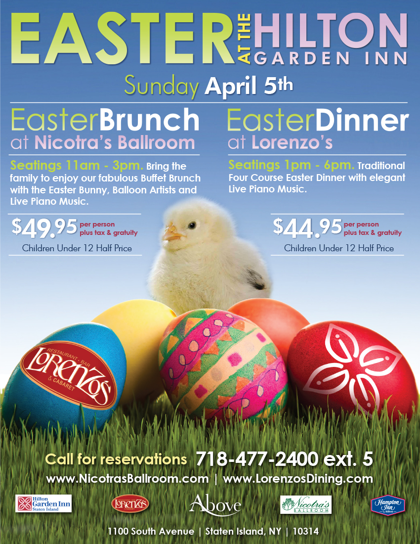 Easter at the Hilton Garden Inn April 5th