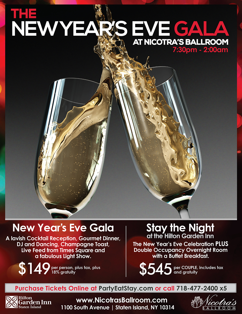 Nicotra's Ballroom New Years Eve Gala 2014