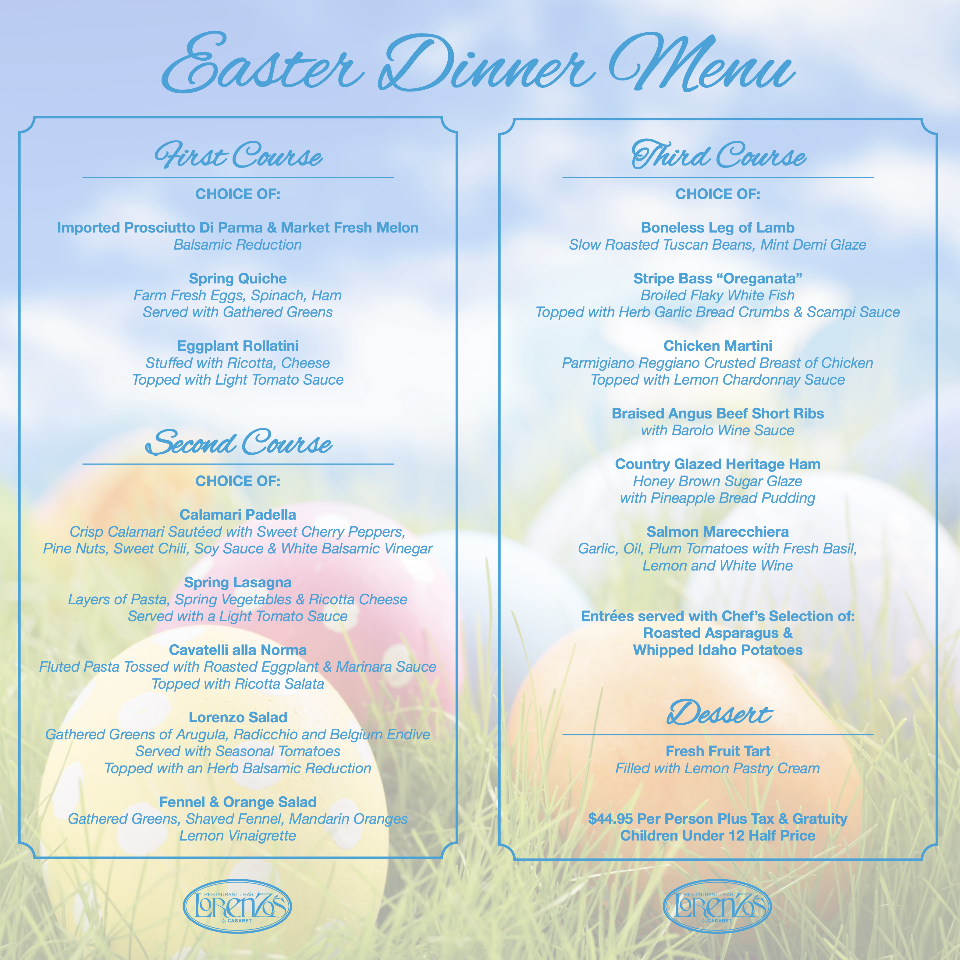 Easter Dinner Menu Web