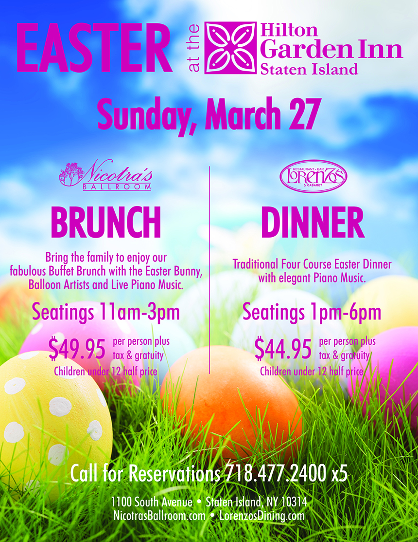 Easter at the Hilton Garden Inn March 27 Flyer