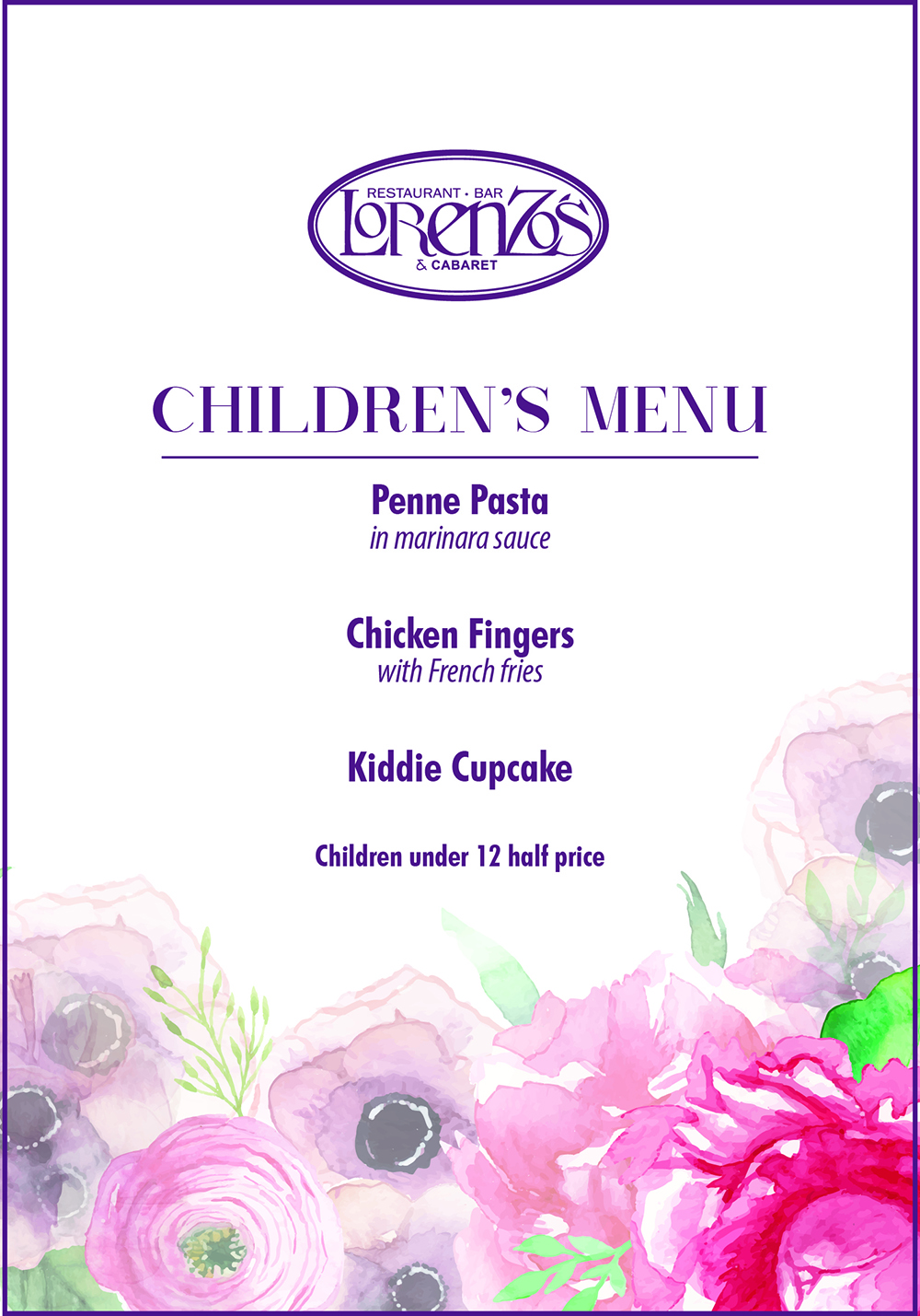Mother27s Day Dinner Children27s Menu