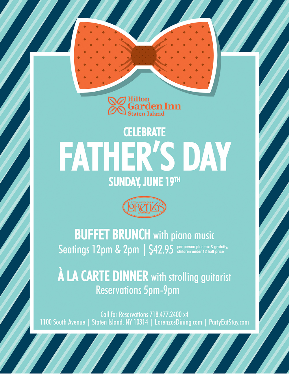 Hilton Garden inn Celebrate Father's Day June 19th