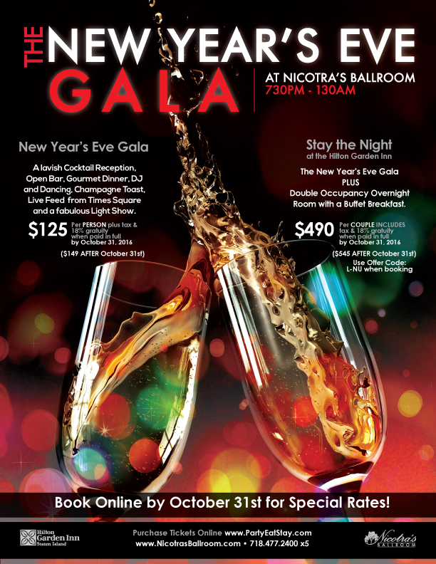 Nicotra's Ballroom New Year's Eve Gala