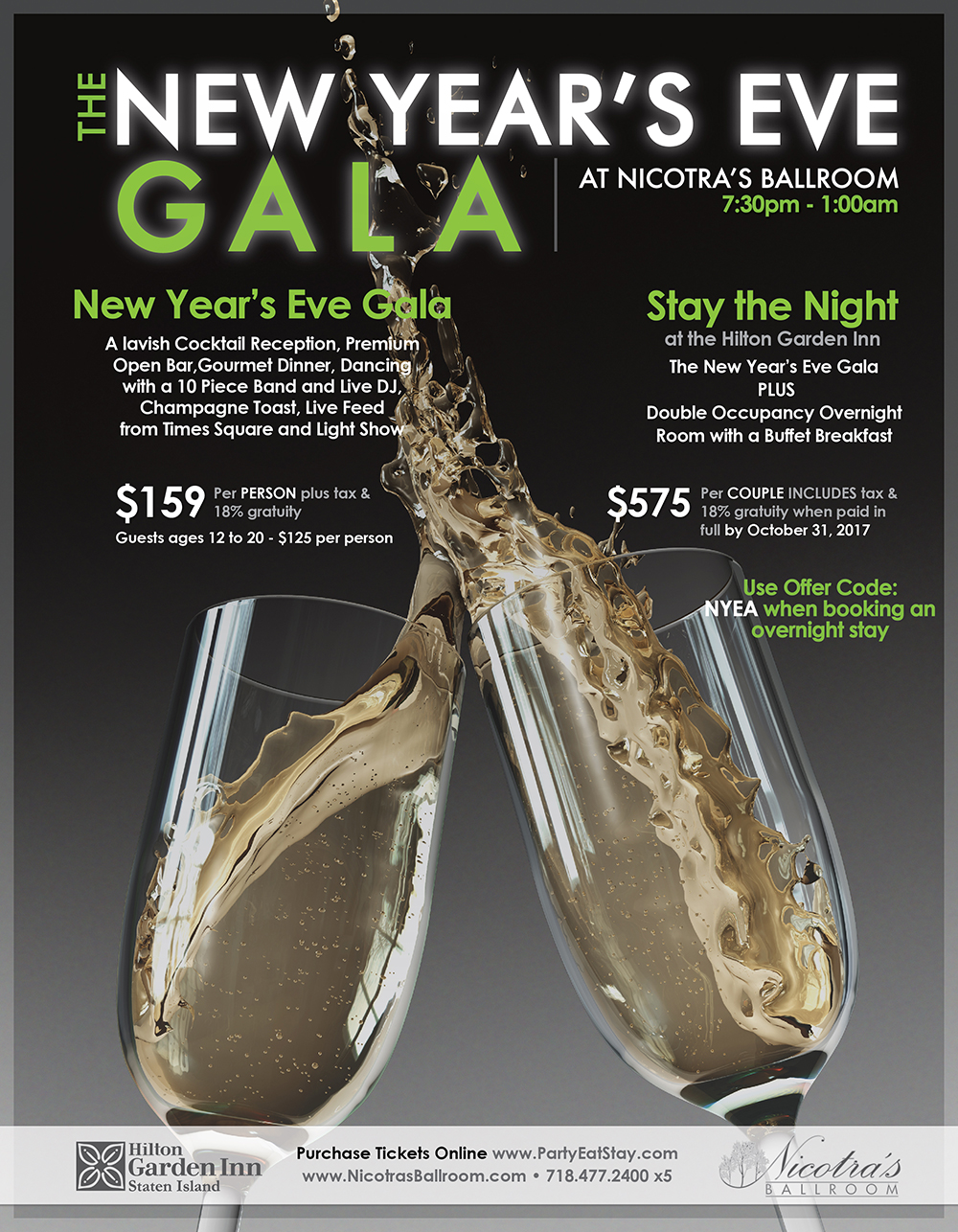 New Years Eve Gala @ Nicotra's Ballroom