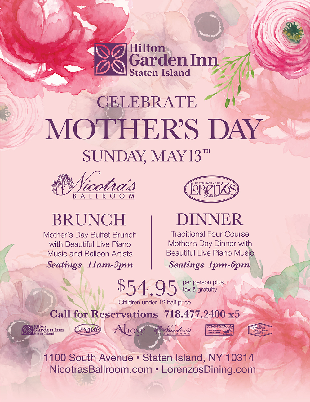 Mother's Day Brunch at Nicotra's Ballroom