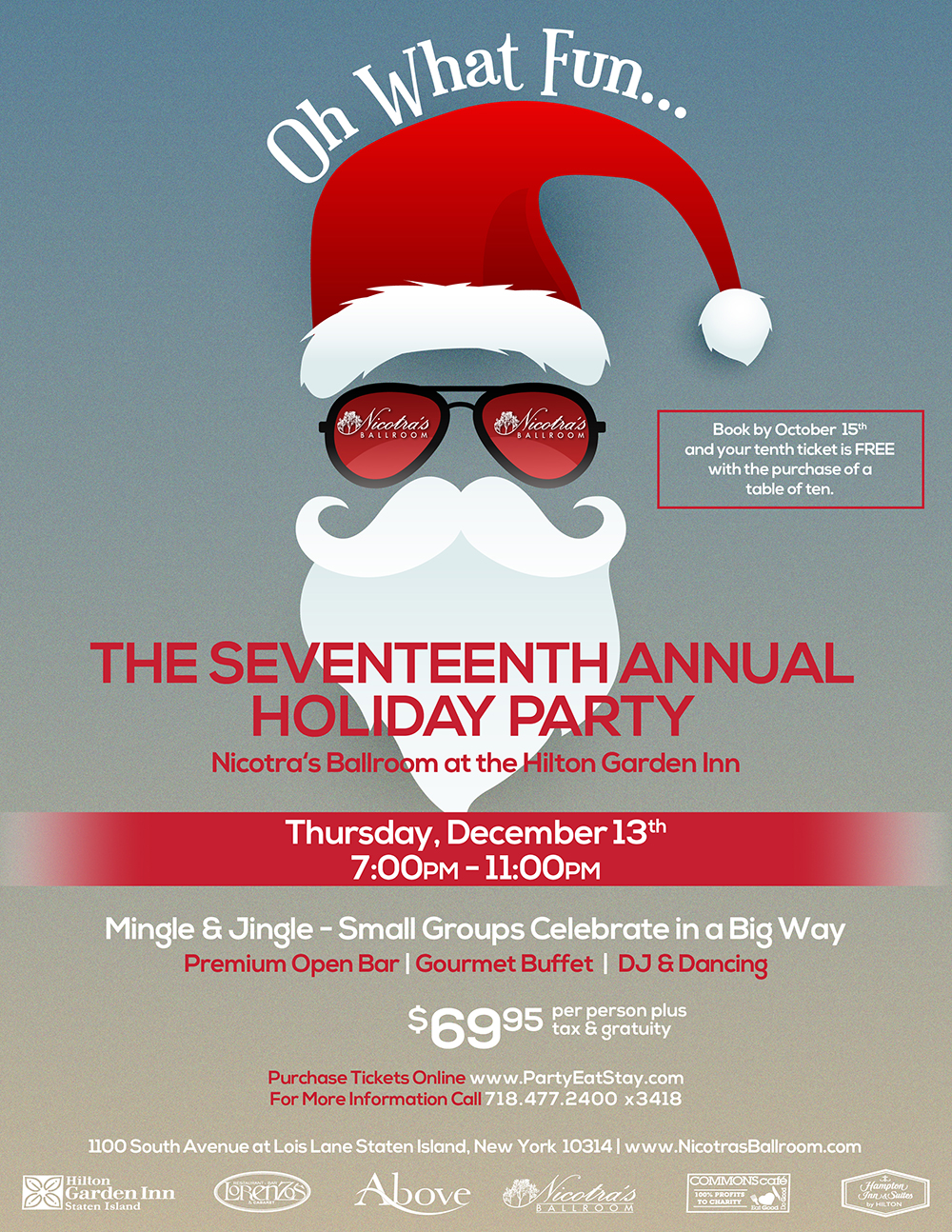 The Seventeenth Annual Holiday Party at Nicotra's Ballroom