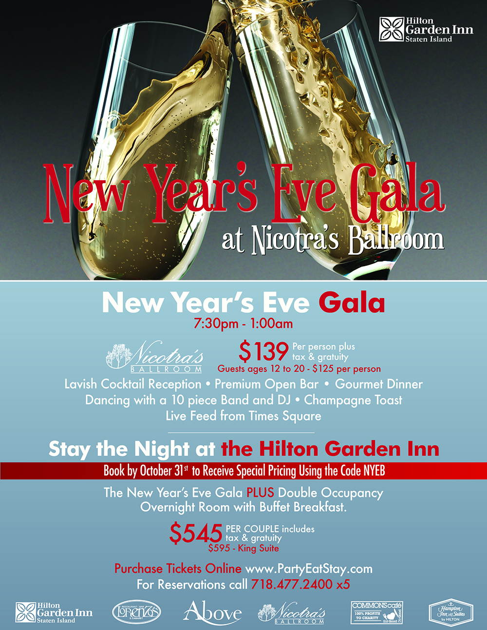 New Year's Eve Gala at Nicotras Ballroom