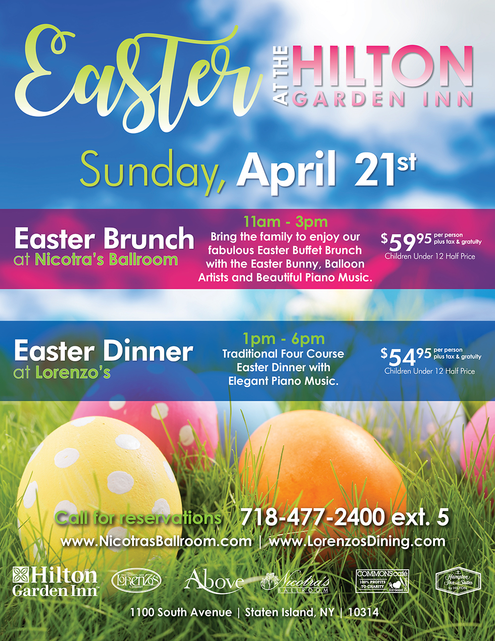 Easter Brunch at Nicotra's Ballroom