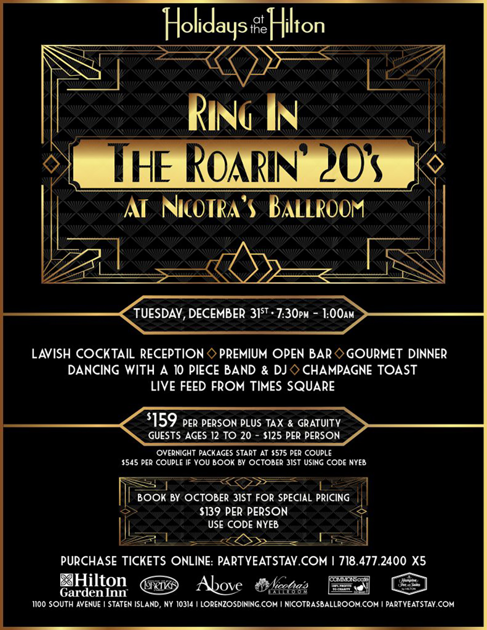New Years Eve Gala - At Nicotras Ballroom