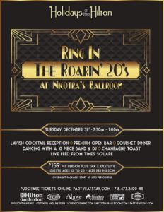 RIng in the roaring 20's at Nicotra's Ballroom - new years eve 2019